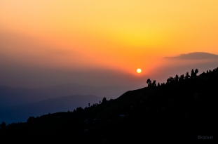Sunset View from Darjeeling Hills
